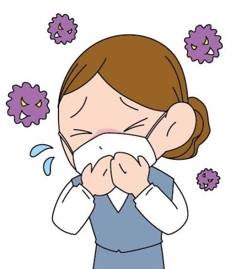 花粉症に悩まされる女性