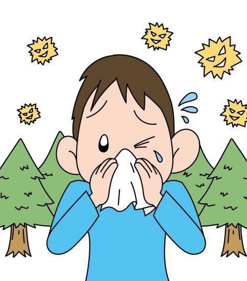 花粉症で鼻水が止まらない男性