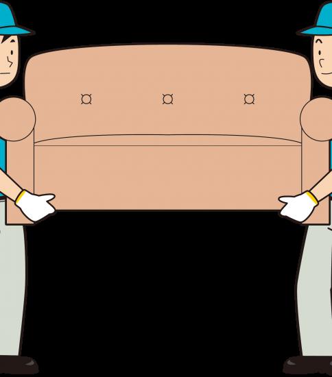 ソファを2人で運ぶ男性