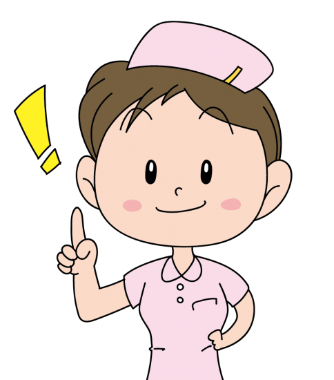 名案を思い付いた看護婦