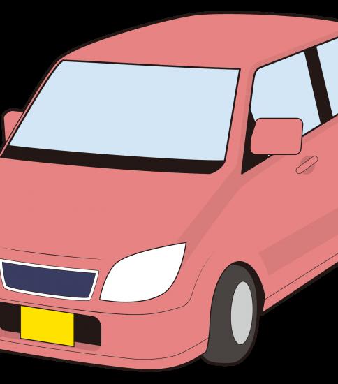 赤色の軽自動車
