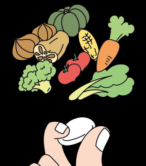 野菜の栄養素を詰め込んだ錠剤