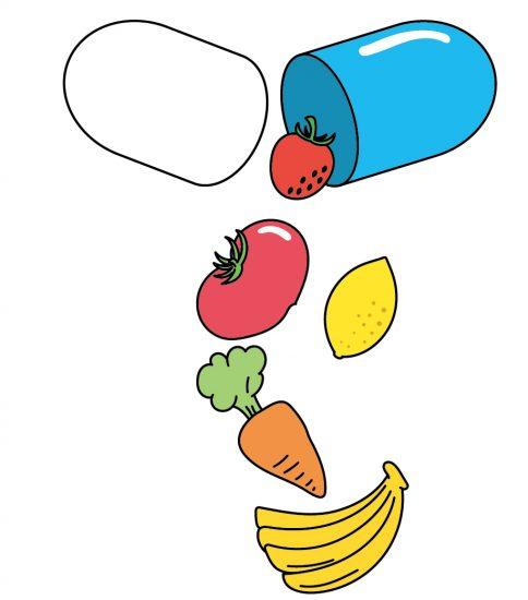 野菜や果物の栄養を閉じ込めたサプリメント