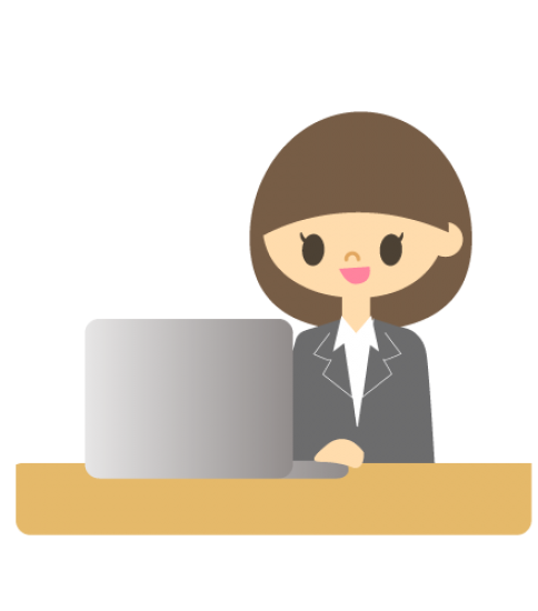 パソコンの調子が良い女性