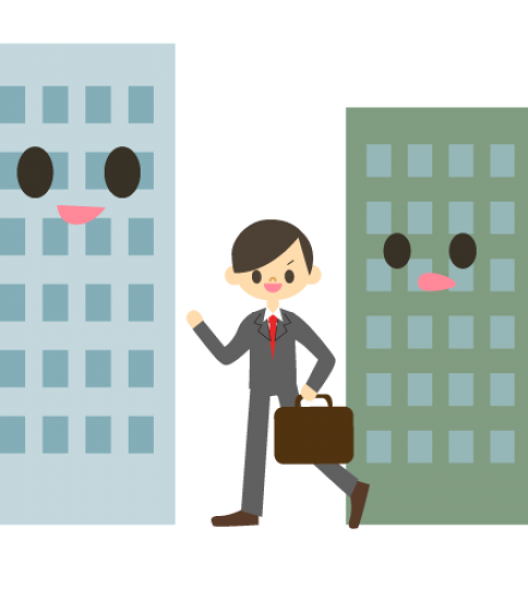 ビルとサラリーマン1