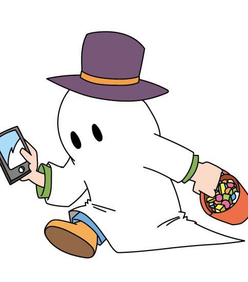 幽霊のコスプレ
