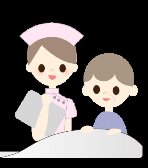 看護師と老人