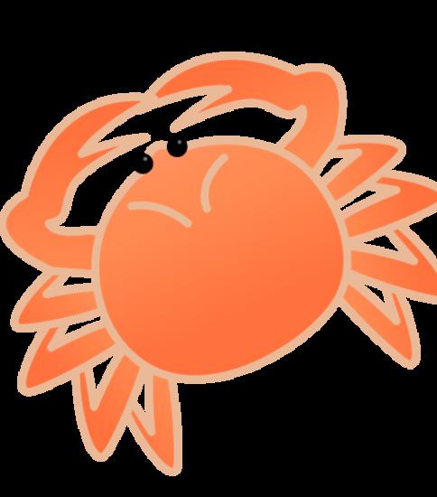 丸みを帯びた蟹