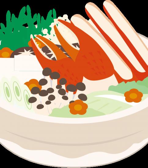 大きな蟹の入ったカニ鍋