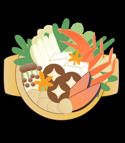 具だくさんのカニ鍋