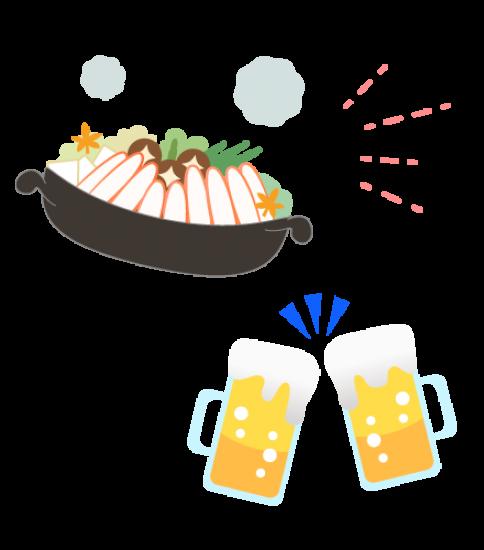 カニ鍋とビールで乾杯!