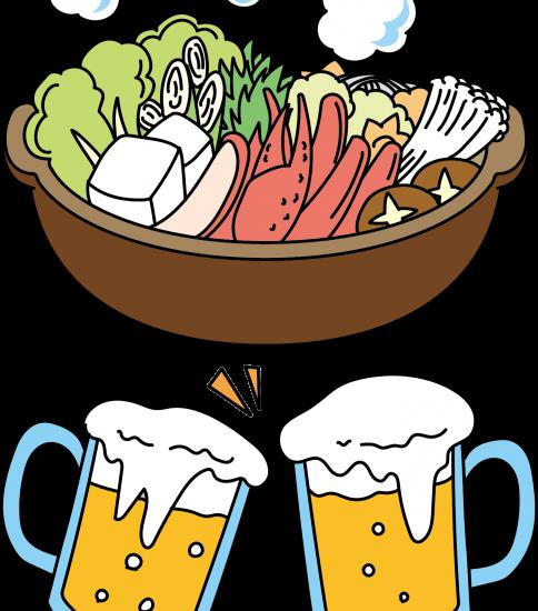 カニ鍋とビール