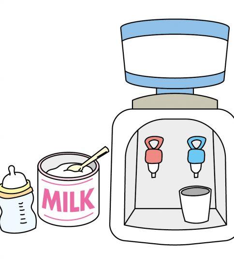卓上ウォーターサーバーでミルクを入れる