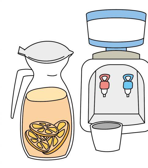 卓上ウォーターサーバーで紅茶を入れる