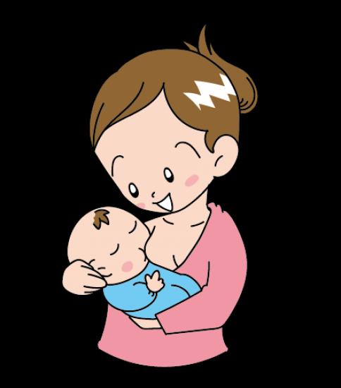 母乳を飲ませる女性