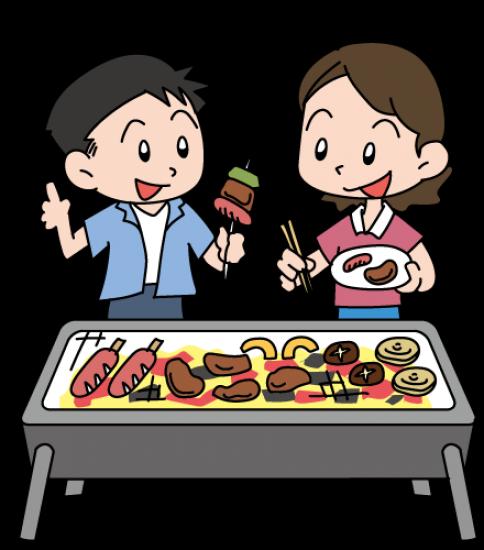 BBQを楽しむカップル