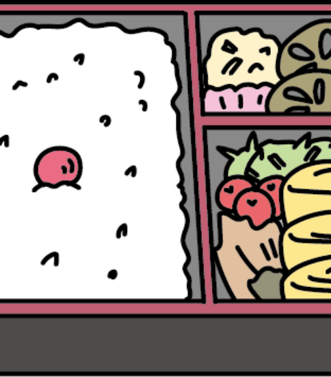 コンビニの日の丸弁当