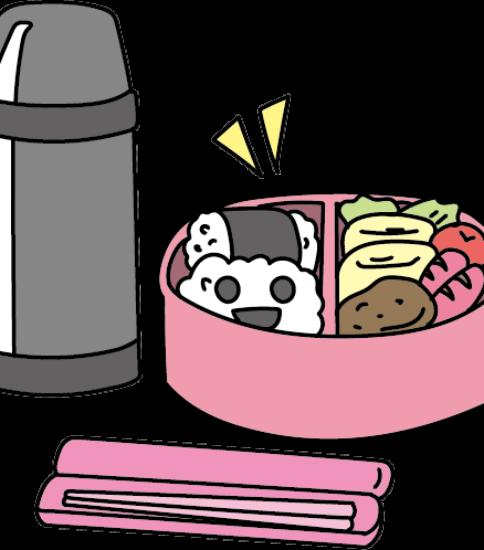 お弁当と水筒
