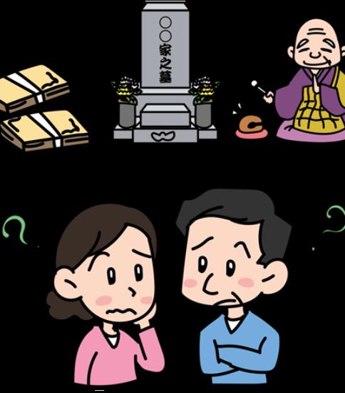 お墓の事を考える夫婦