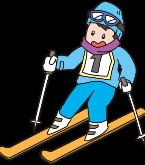 スキー教室の男の子