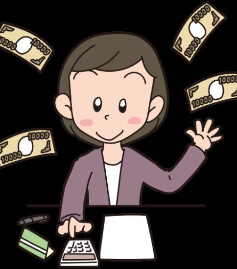 収支を計算する女性