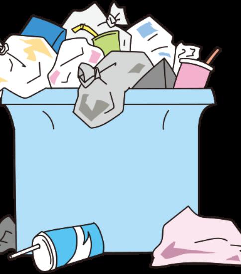 ゴミがあふれている