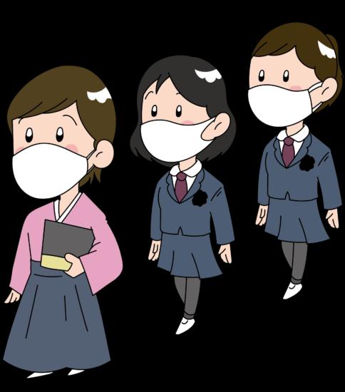 マスクで卒業式