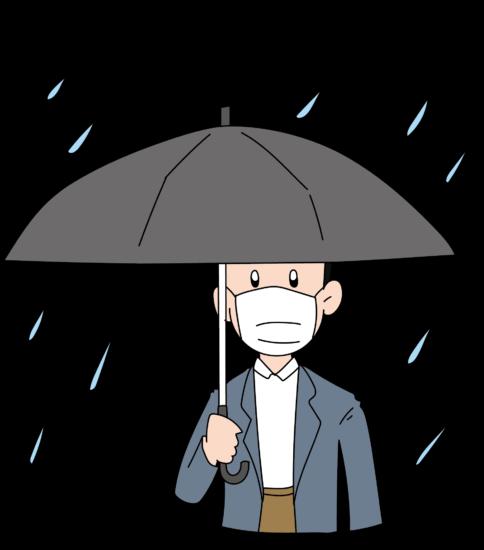 梅雨入り マスク