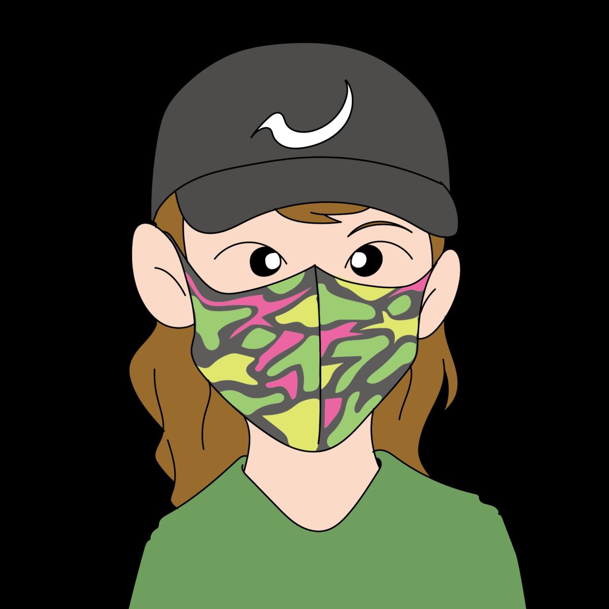 ファッションマスク柄