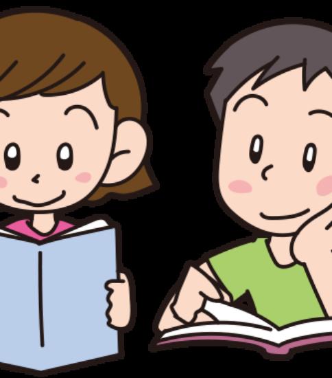 友達と一緒に読書